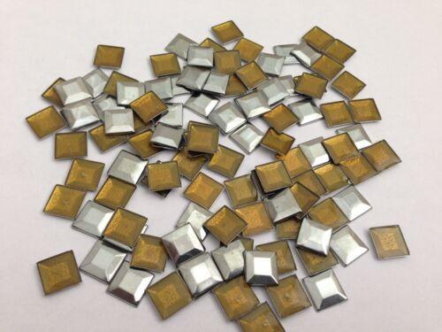 Hot Fix ou fer sur carré plat métal Superbe Qualité Rivets en Diverses Couleurs