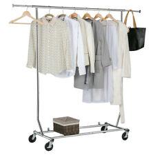 Heavy Duty Garment Rack Rolling Adjustable Clothes Rack Clothes Hanger Dry Shelf