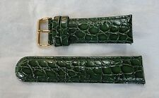 INVICTA GREEN LEATHER 26MM 2-PIECE WATCH BAND ALLIGATOR PATTERN