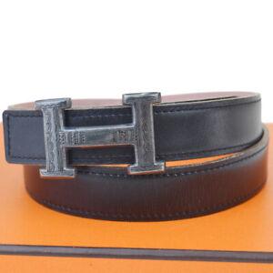 marchi riconosciuti informazioni per nuovi stili Authentic HERMES Tuareg Constance H Buckle Belt Leather Silver ...