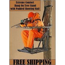 Extreme Comfort Hang On Tree Stand with Flip Up shooting rail 300lbs capacity