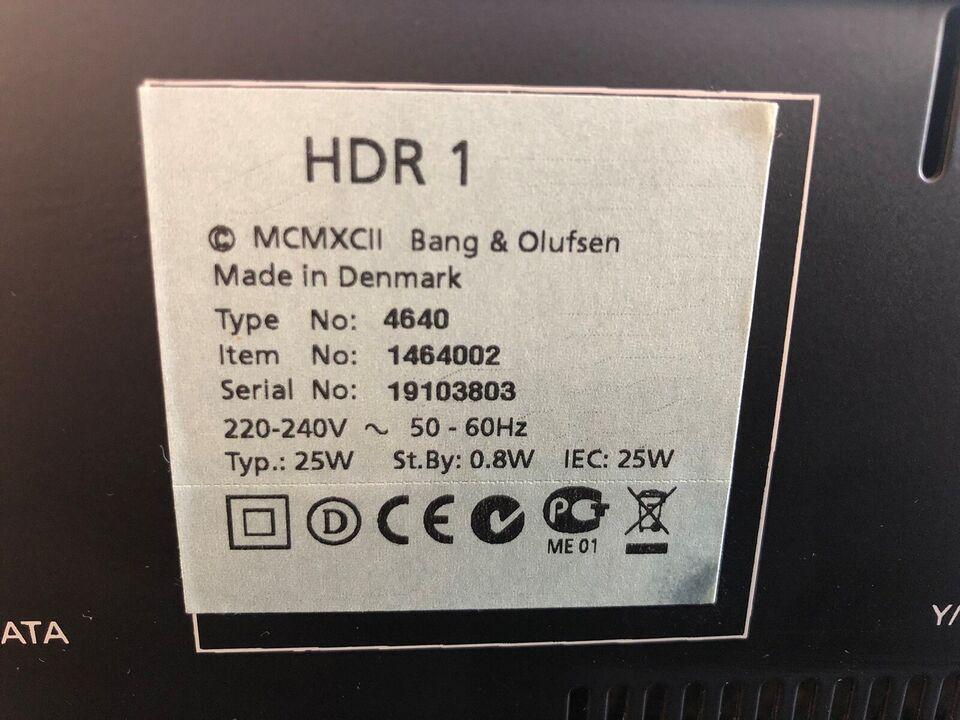 Bang & Olufsen, HDR 1, Harddiskoptager