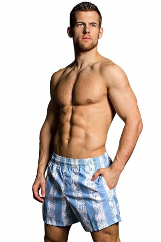 "HOM XS//30/"" MEN/'S florea Swim Boxer Short Spiaggia Piscina Vacanza"