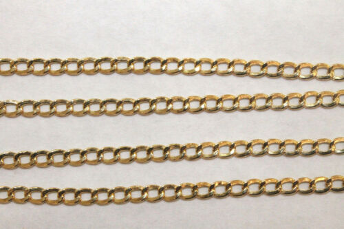 "10K Yellow Gold Hollow Men/'s Women/'s Cuban Link Chain Necklace 3.5MM 18/"" 26/"""