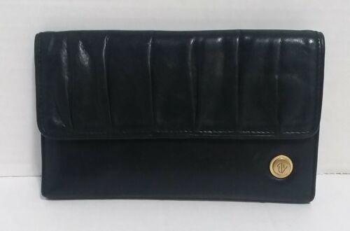 Eileen West Soft Black Leather Folding Wallet