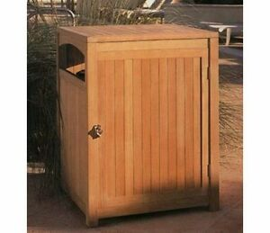 Image Is Loading TEAKWOOD WASTE TRASH CAN BOX UTILITY RECEPTACLE WITH