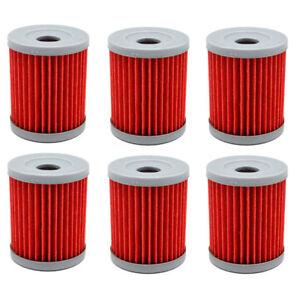 6-Pack-Oil-Filters-For-Suzuki-King-Quad-LTF300-91-02-Quadsport-LTZ250-04-09
