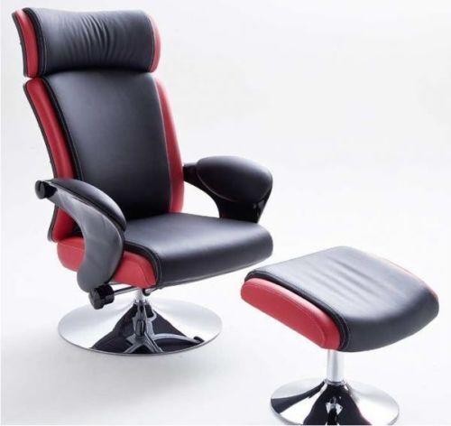 bente relaxsessel hocker 64007sr6 fernsehsessel holz sessel sofa schwarz rot ebay. Black Bedroom Furniture Sets. Home Design Ideas