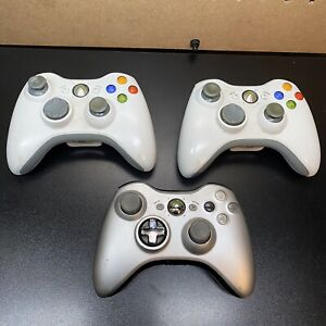 3-Microsoft XBOX 360 Wireless Video Game Controller Used Untested AS IS Pls Read
