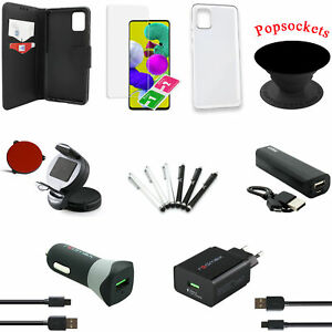 18 teiliges Samsung Galaxy A51 Zubehör Set Paket Tasche Schutzglas Powerbank