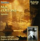 Max d'Ollone: M'lodies (CD, 1920, Maguelone)