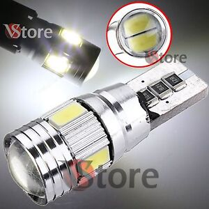 2-Lampade-Led-T10-6-smd-CANBUS-Luce-Posizione-No-Errore-BIANCA-5630-HID-AUTO-12V