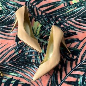 CASADEI-Peach-Gold-Heels-Size-10