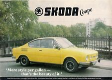 Skoda S110R Coupe 1980 UK Market Leaflet Sales Brochure