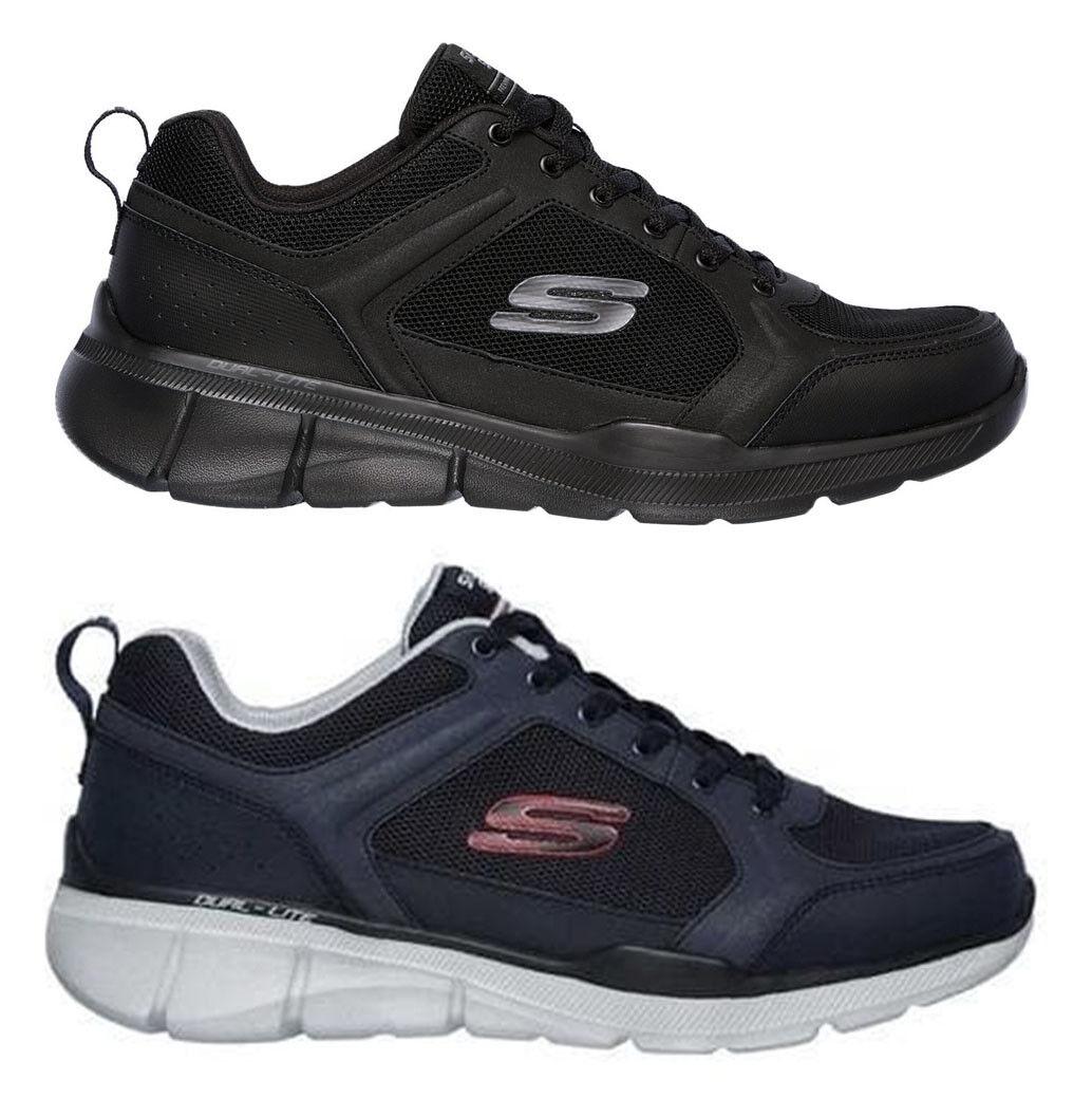 SKECHERS EQUALIZER 3 DECIUomoT 52940 BBK scarpe uomo sportive scarpe da ginnastica camoscio