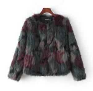Causale Winter As Nepbontjas kleuren Dames Pics Gemengde Furry Warm korte jas KYq5wwz1O