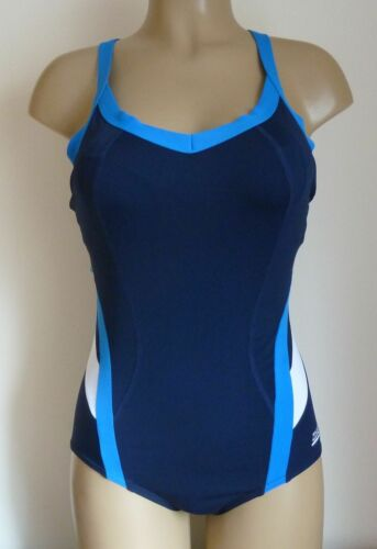 ZOGGS SWIMSHAPES SWIMSUIT OCEAN BLOOM BLUE WHITE WIRE FREE MULTIWAY SWIM COSTUME