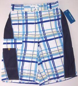 amp; S Board White Nwt Plaid Trunks 732997879115 8 Shorts Swim Boy's Blue 10 Greendog qBtHwU