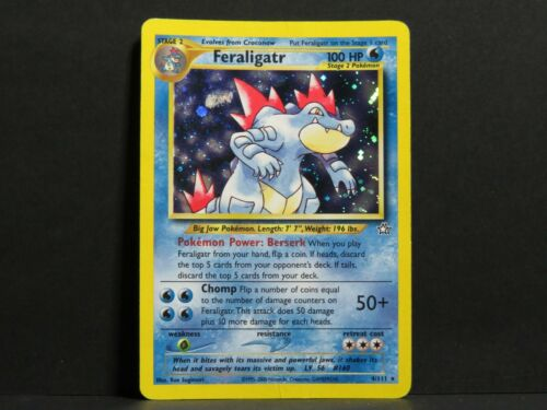 Feraligatr 4//111 Light Played Neo Genesis Pokemon Card