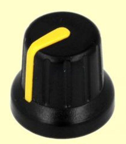 amarillo altura 6mm negro puntero potenciómetro-botón botón giratorio eje 20 PCs 14mm #bp