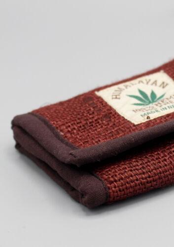 Ecofriendly douce Chanvre Marron Chocolat Couleur Tri Fold Portefeuille