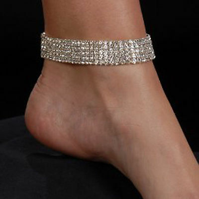 Anklets Cheap Sale Elegante Cristallo Di Boemia 5 Five File Cavigliera Catena Alla Caviglia Fashion Jewelry