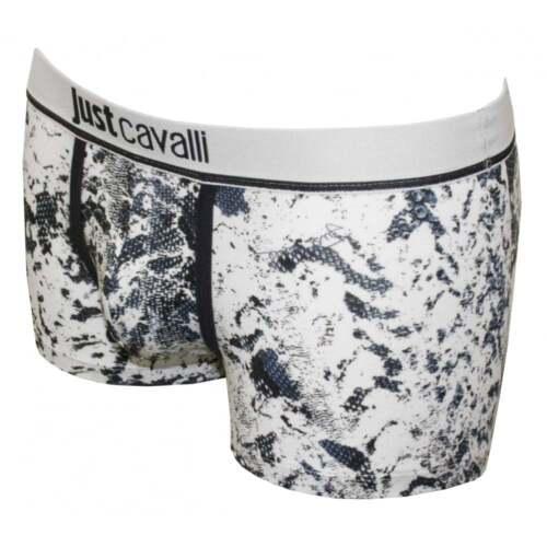 NUOVI Pantaloncini Uomo Just Cavalli Serpente Stampato Boxer Tronco Biancheria Intima Autentico UK 32-34-40