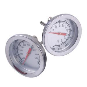 50-500 ° Edelstahl Temperaturanzeige Grill BBQ Raucher Grill Thermometer M5N8