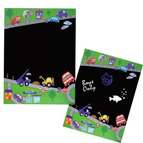 Childrens a3 Self-adhesive Blackboard Wall Sticker-Boys or Girls