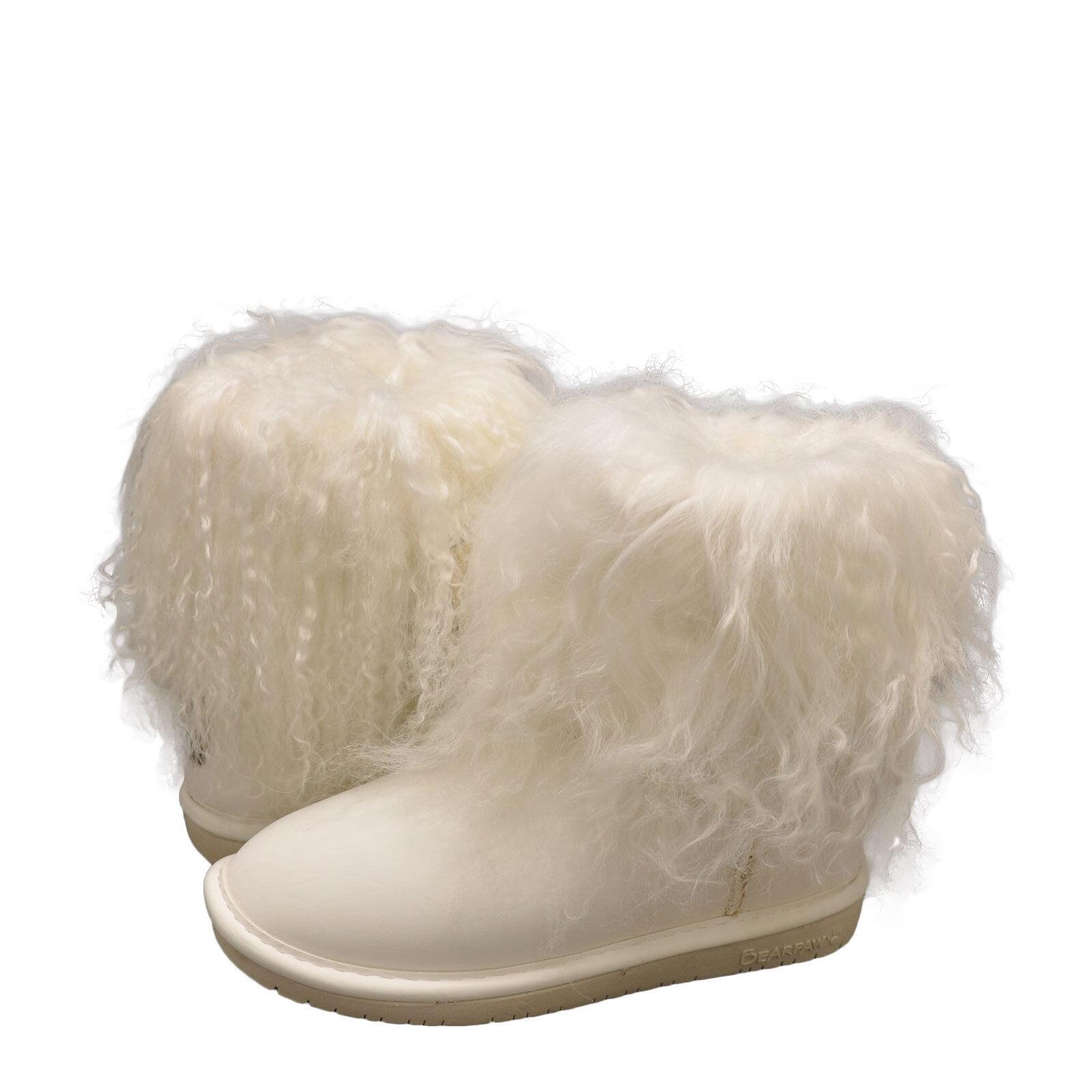 Women's Shoes Bearpaw Boo Furry Winter Booties 1854W White *New*