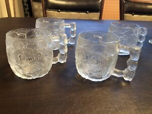VINTAGE MCDONALD'S MUGS MUG FLINTSTONES FROSTED GLASS ROCKY ROAD