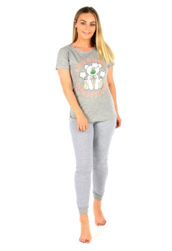 Ladies Short Sleeve Pyjama Set PJ/'s Womens 100/% Cotton Nightwear