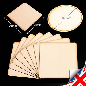 100mm x 100mm Quantity x 3 MDF Craft Blanks Coasters