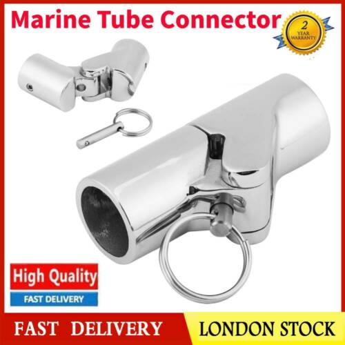 22mm Stainless Steel Boat Marine Pipe Connector For Folding Sun Canopies Masts