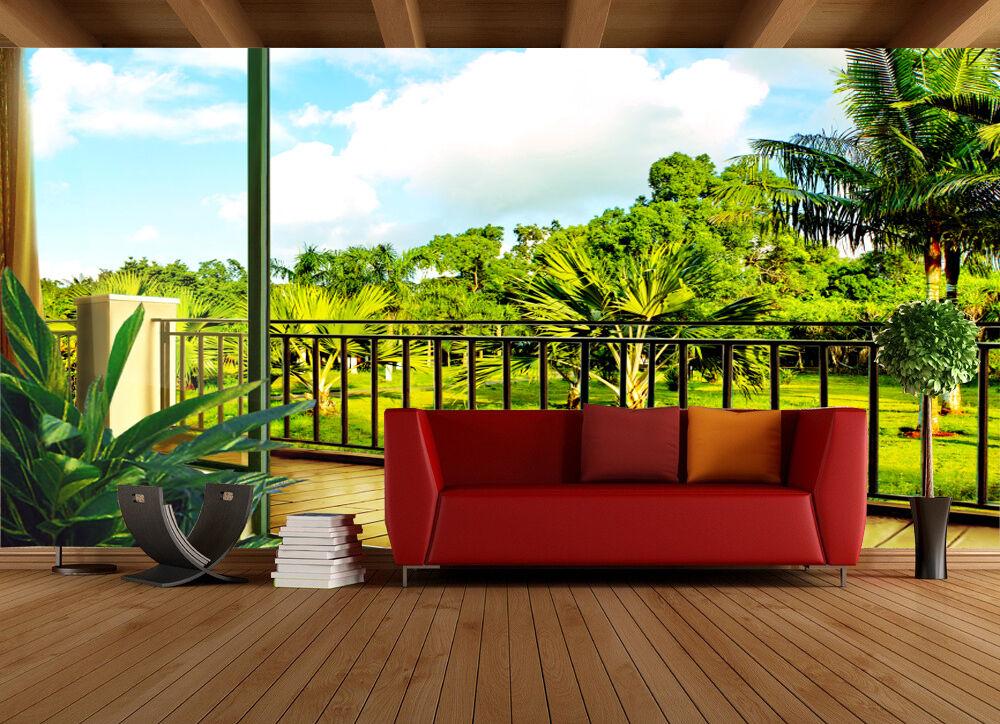 3D Den Wald vor DEM Fenster Fototapeten Wandbild Fototapete BildTapete Familie