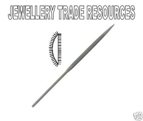 Jewellers Swiss Made 160mm Half Round Needle File Cut 4 Jewellery Making