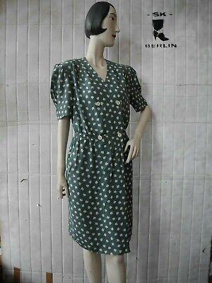 Fiorellini-abito 38 Millefleur Viscosa Boho 90er True Vintage Floral Dress 90s-