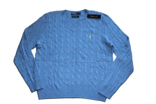 Caballo Suéter V Lauren amarillo W punto con 92449346429 de Azul Xxl de cuello en Polo tejido talla Ralph en Yqa4E5xTw