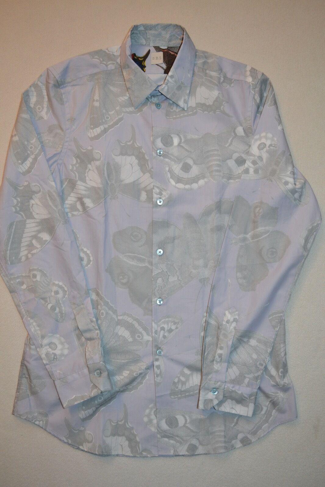 Paul Smith PBS Butterfly Butterfly Butterfly Print Shirt M NEW     | Modern Und Elegant In Der Mode  3e0535
