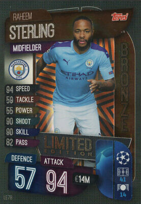 Match Attax 2019//20 19//20 Raheem Sterling 100 club Trading Card-Man City