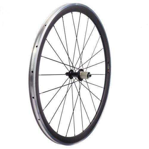Details about  /38mm Powerway CN 424 Road Bike Carbon Wheels Bicycle Wheelset Alum Alloy Brake