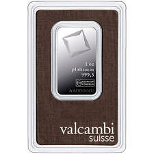 Valcambi Suisse 1oz Platinum Bar in Assay Card