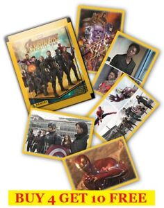 PANINI-MARVEL-AVENGERS-INFINITY-WAR-SINGLE-STICKERS-2018-BUY-4-GET-10-FREE