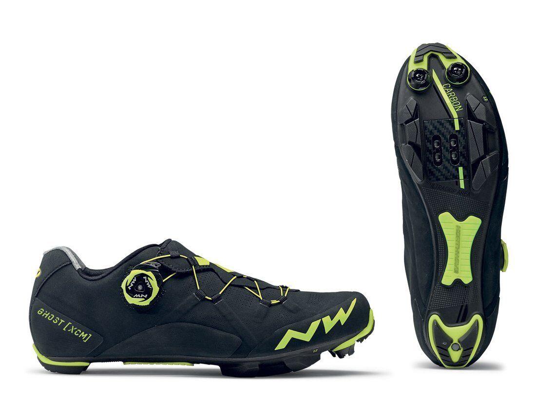 MTB zapatos Northwave Mod. 'fantasma Xcm , Col. Negro Amarillo Fluo; a estrenar