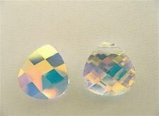 4 Crystal AB Swarovski Pendant Briolette 6012 15mm