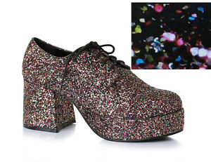 821f412efd18 Image is loading Rainbow-Glitter-Pimp-Daddy-Disco-Dancer-Platform-Costume-