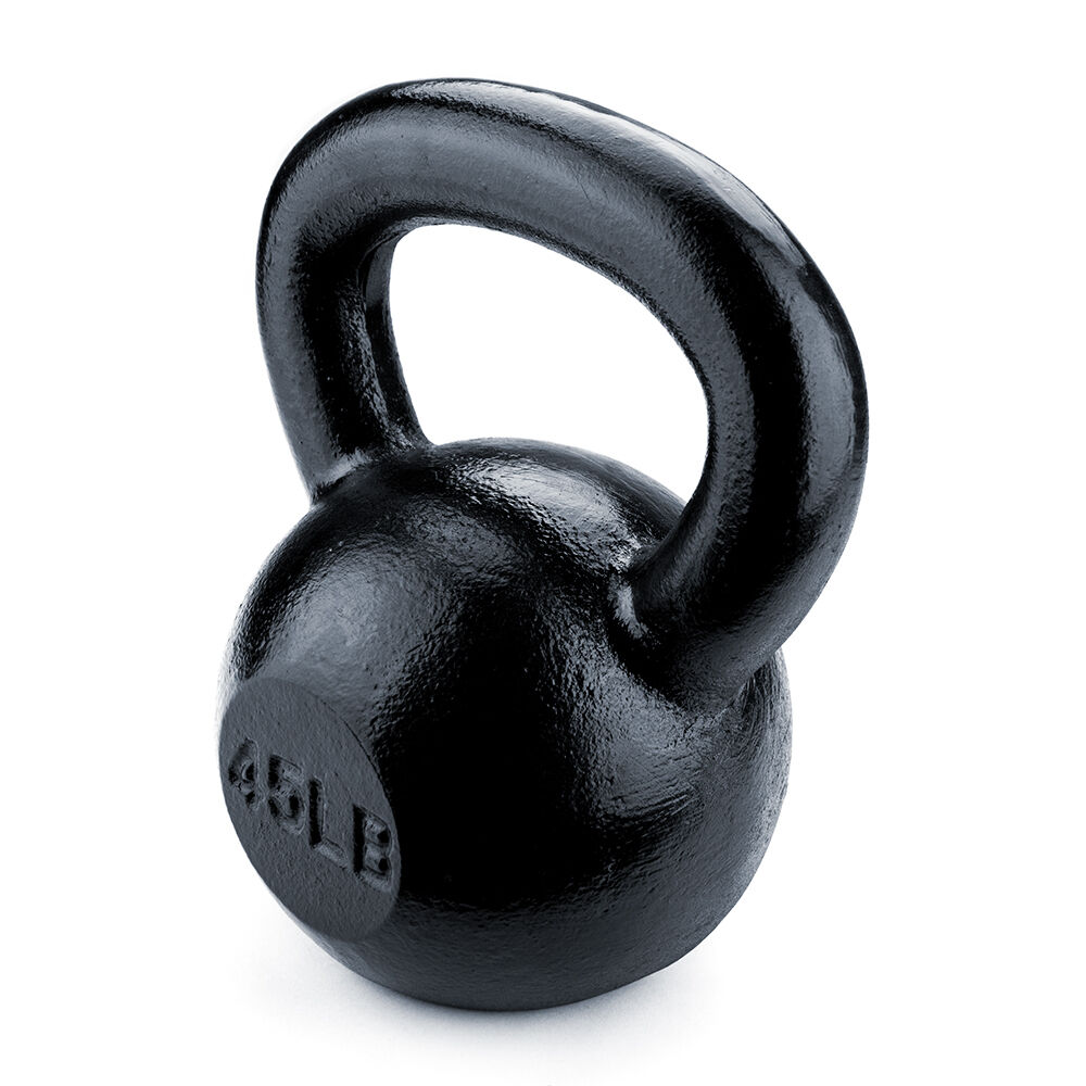 Cast Iron Kettlebell Weight Lifting Muscle Building Fitness Workout - Select Wt.