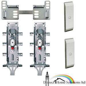 Pair Of Hafele Libra H2 Concealed Wall Hanger Brackets Kitchen Mounting Cabinet Ebay
