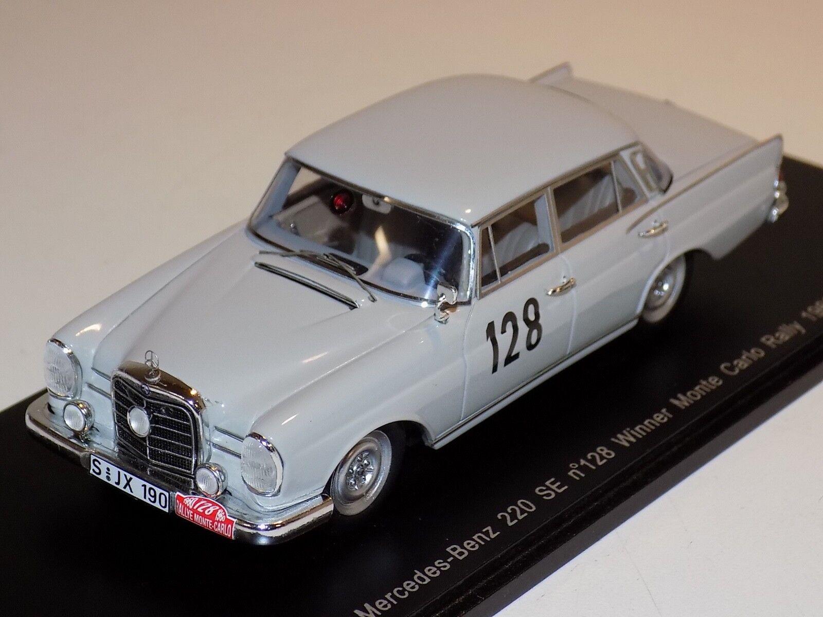 ahorra hasta un 70% 1 1 1 43 Spark Mercedes Benz 220 se  128 Ganador Monte Cochelo Rally 1960 S1004  descuentos y mas