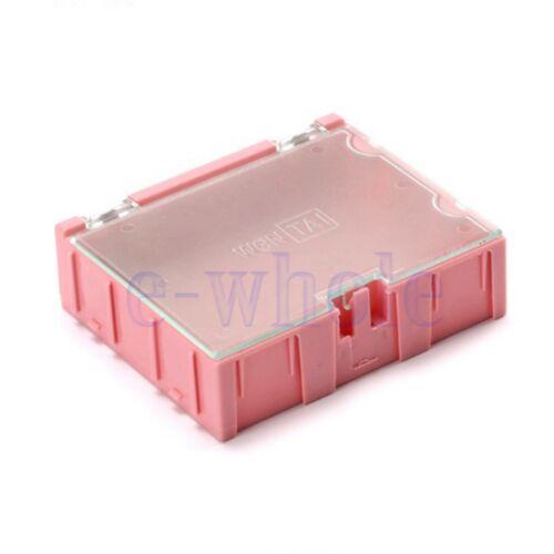 3PCS 3#SMT SMD Kit Parts Components Resistor Storage Boxes Pink 75*63*21.5 TW